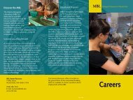 Download the MBL Benefits brochure. - Marine Biological Laboratory