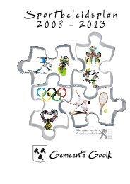 Sport beleidsplan 2008 - 2013