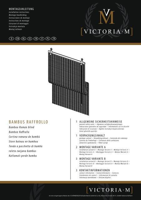 Victoria M Bambus Raffrollo