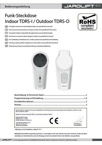 Funk-Steckdose Indoor TDRS-I / Outdoor TDRS-O
