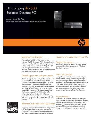 HP Compaq dx7500 Business Desktop PC