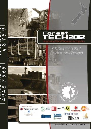 4-5 December 2012 Rotorua, New Zealand - ForestTech Events