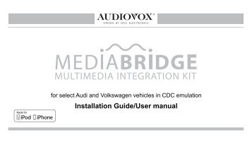 For Select Audi And Volkswagen Vehicles In CDC Emulation