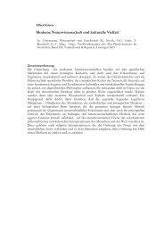 Moderne Naturwissenschaft und kulturelle Vielfalt 1 - edoc-Server ...