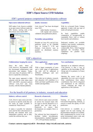 Trust and Quality in CFD - Turbulence Mechanics/CFD Group