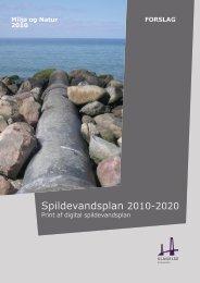 forslag til Spildevandsplan 2010 - 2020 - Slagelse Kommune