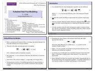 Turbulent Heat Flux Modelling - Turbulence Mechanics/CFD Group