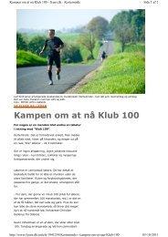 Fyens Stiftstidende (artikel om afviklingen af løbet ... - Skinnermaraton