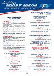 les Infos Sport du 11 juin - Mototribu