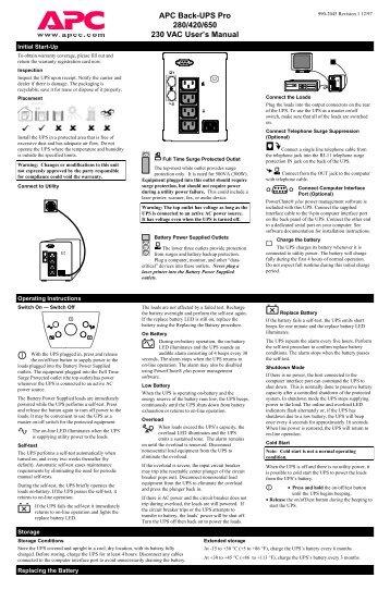 Back Ups 650 Pro Инструкция - фото 11
