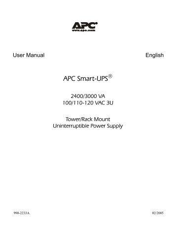 apc smart ups 1000 service manual