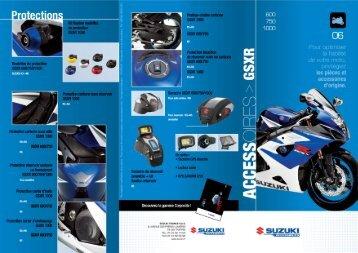 CATALOGUE ACCESSOIRES 2006 GSXR 600/750 ... - Mototribu