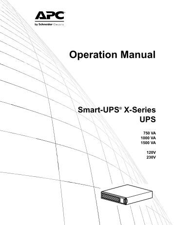 SMART 1500 APC MANUAL  Auto Electrical Wiring    Diagram