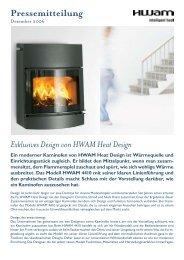12.2006: Exklusives Design von HWAM