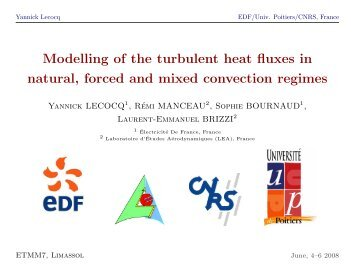 Modelling of the turbulent heat fluxes in natural, forced and mixed ...