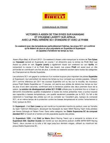 le compte rendu Pirelli - Mototribu