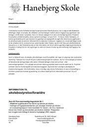 Bilag 10 - Orientering fra ledelsen november 2011 - Hanebjerg Skole