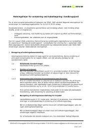 Retningslinjer for erstatning ved kabellægning i ... - SEAS-NVE
