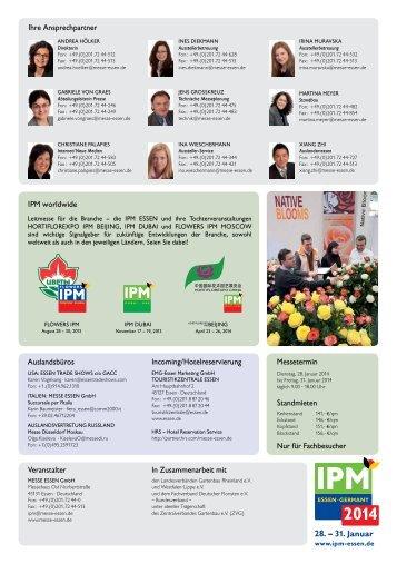 28. – 31. Januar - IPM Essen