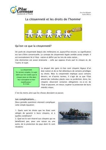 La citoyenneté et les droits de l'hommei - BLOG DE FILOSOFÍA EN ...