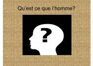 Qu'est ce que l'homme? - BLOG DE FILOSOFÍA EN FRANCÉS... Y ...