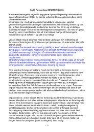 HAGI formandens Årsberetning 2008