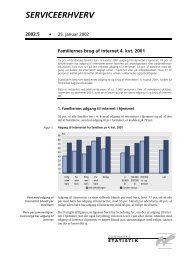 serviceerhverv 2002:5 - Danmarks Statistik