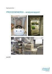 PROCESENERGI - analyserapport - Bygningsstyrelsen