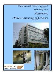 Natursten, Dimensionering af facader - Teknologisk Institut