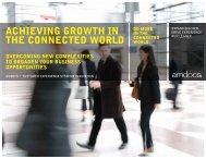 ACHIEVING GROWTH IN THE CONNECTED WORLD