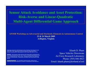 Sensor Attack Avoidance and Asset Protection: Risk-Averse ... - MAE