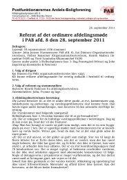 Referat af det ordinære afdelingsmøde i PAB afd. 8 den 28 ...
