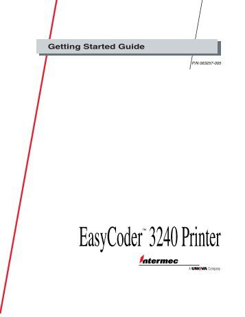 intermec easycoder 3400 service manual
