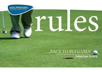 """""""RACE TO BULGARIA"""" - Golfclub Herzog Tassilo"""