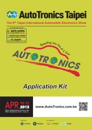 APPLICATION FORM FOR AutoTronics Taipei 2013