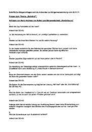 Schriftliche Bürgeranfragen und die Antworten zur - Lindau