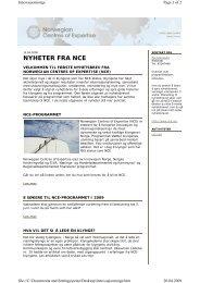 Nyhetsbrev nr. 1 2009 - Innovasjon Norge