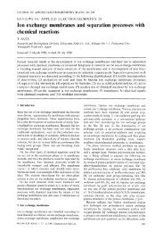 Ion exchange membranes and separation processes with chemical ...