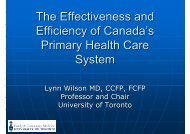 The Effectiveness and Efficiency of Canada's Primary ... - What is GIS