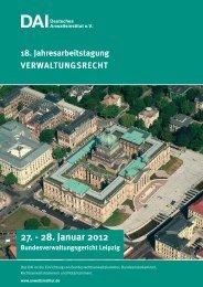 27. - 28. Januar 2012 - Deutsches Anwaltsinstitut ev