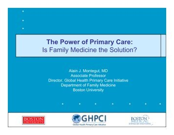 The Power of Primary Care - What is GIS - World Health Organization