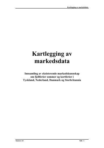 Kartlegging av markedsdata - Innovasjon Norge