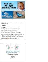 Blue Skies Blue Eyes Blue Butterflies - Little Shop of Physics