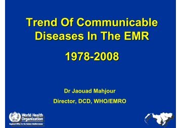 Trends of Communicable Diseases in the EMR - What is GIS