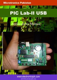Applications Manual PIC Lab-II USB.pub - Microtronics Pakistan