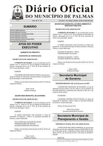 Diario_Municipio_N_552_26_06 -.indd - Diário Oficial de Palmas