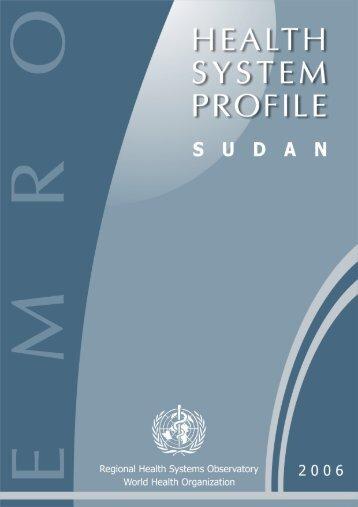 Sudan : Complete Profile - What is GIS - World Health Organization