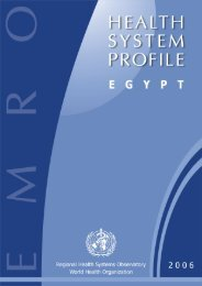 Egypt : Complete Profile - What is GIS - World Health Organization