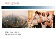 IPR i Kina – 2012 - Partnerskabet UNIK