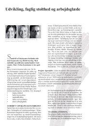 Udvikling, faglig stolthed og arbejdsglæde - MacMann Berg